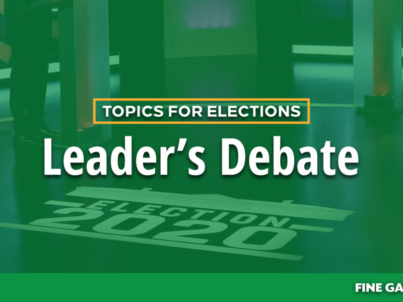 Topics for Elections Leader's Debate