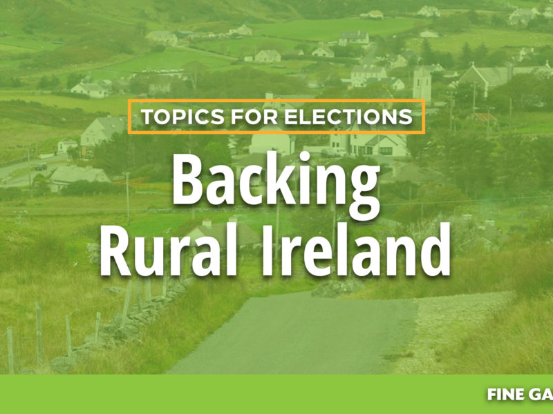 Topics for Elections - Rural Ireland