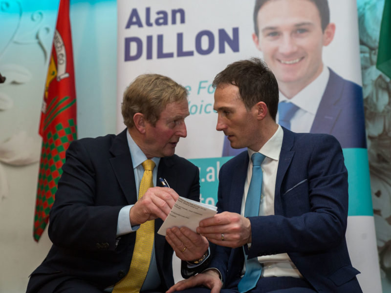 Enda Kenny and Alan Dillon